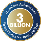 3 Billion Pages Printed on LaserCare Toner