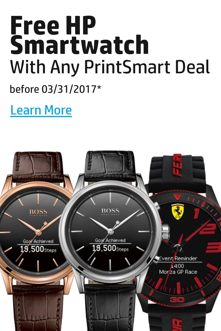 Free HP Smartwatch with PrintSmart