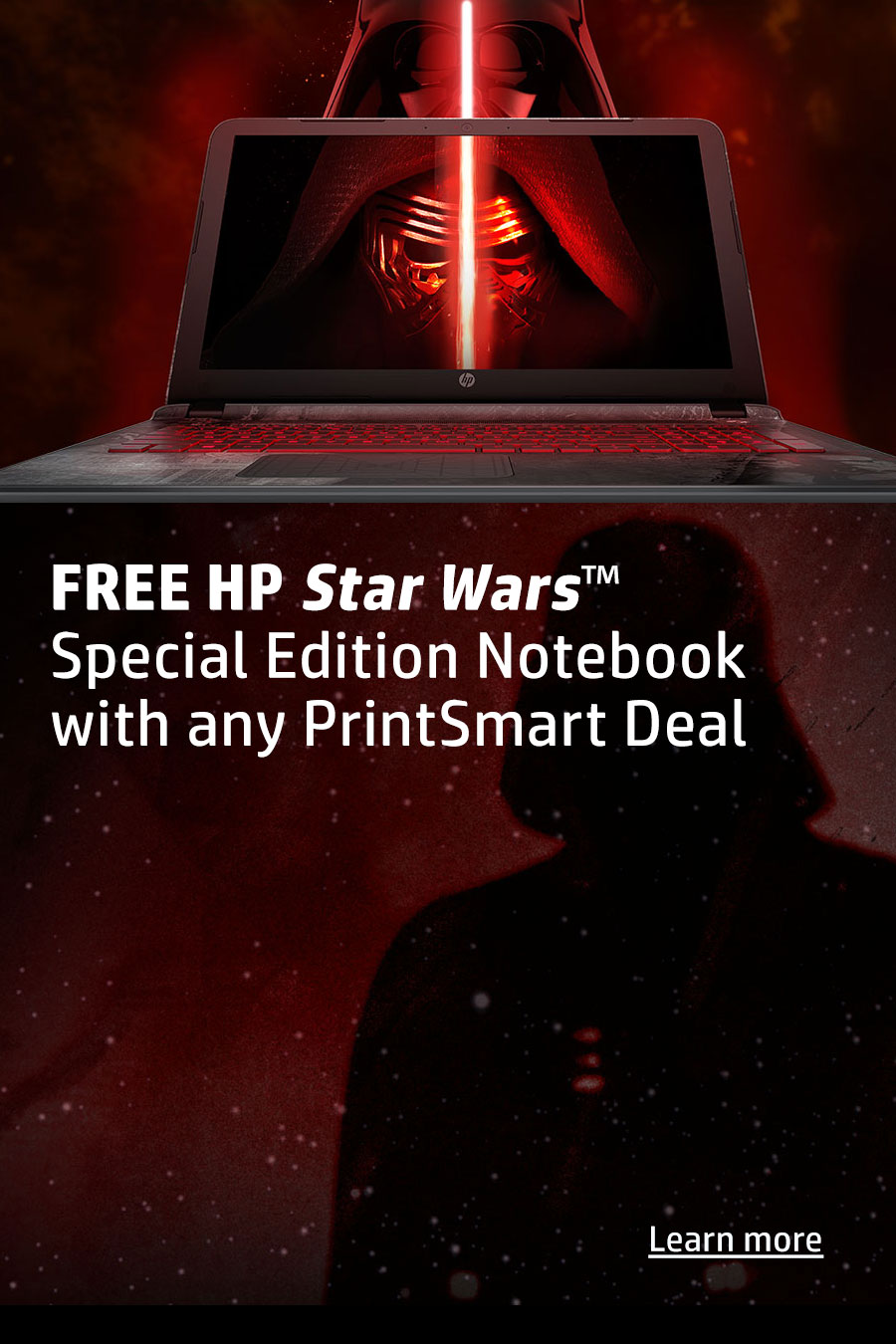 Free HP Star Wars Notebook with Printsmart Deal
